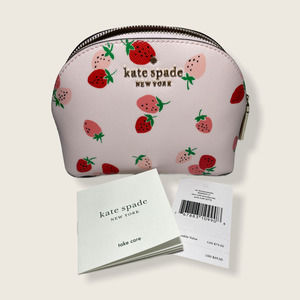 Kate Spade Staci Strawberries Cosmetic Pouch Bag